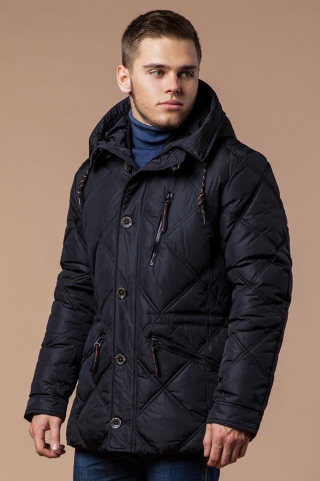 """Современная мужская зимняя курточка чёрная модель 12481 Braggart """"Dress Code"""" фото 4"""