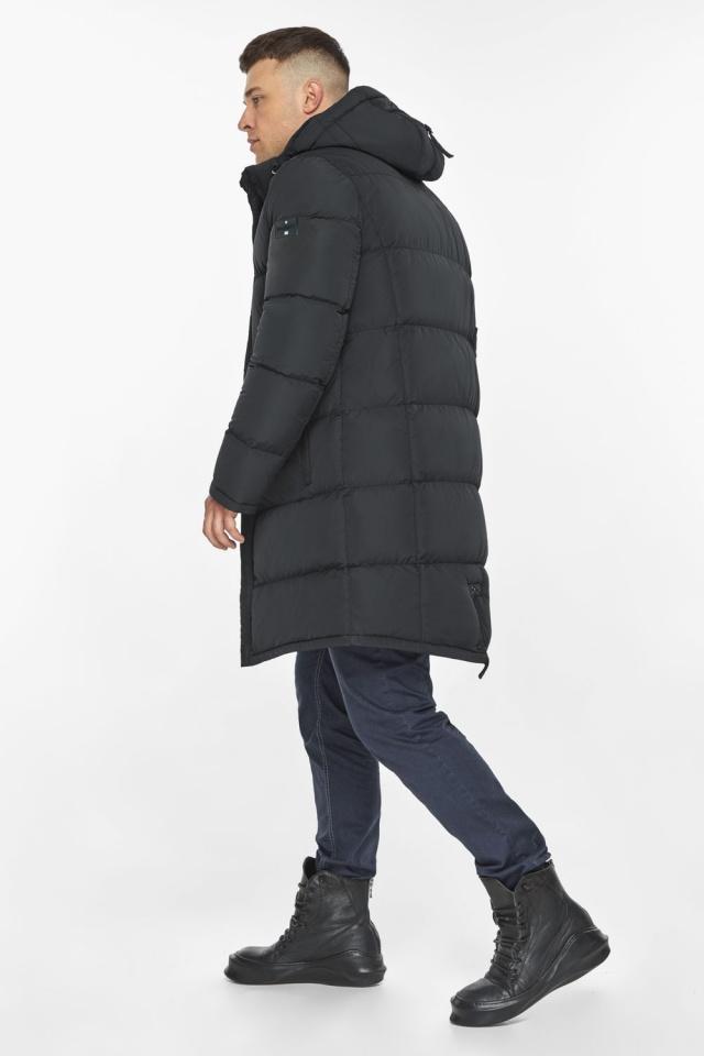 """Мужская куртка на молнии графитово-синяя зимняя модель 49438 Braggart """"Dress Code"""" фото 8"""