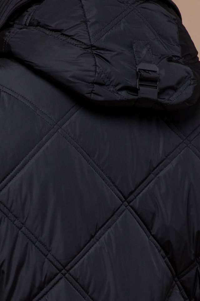 """Современная мужская зимняя курточка чёрная модель 12481 Braggart """"Dress Code"""" фото 8"""