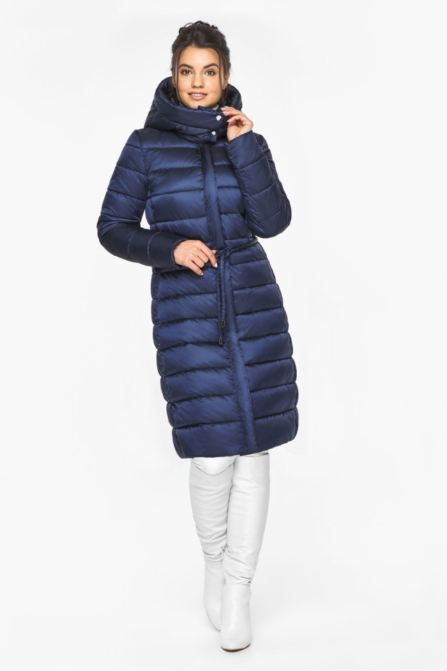 "Женская куртка зимняя цвет синий бархат модель 44860 Braggart ""Angel's Fluff"" фото 2"