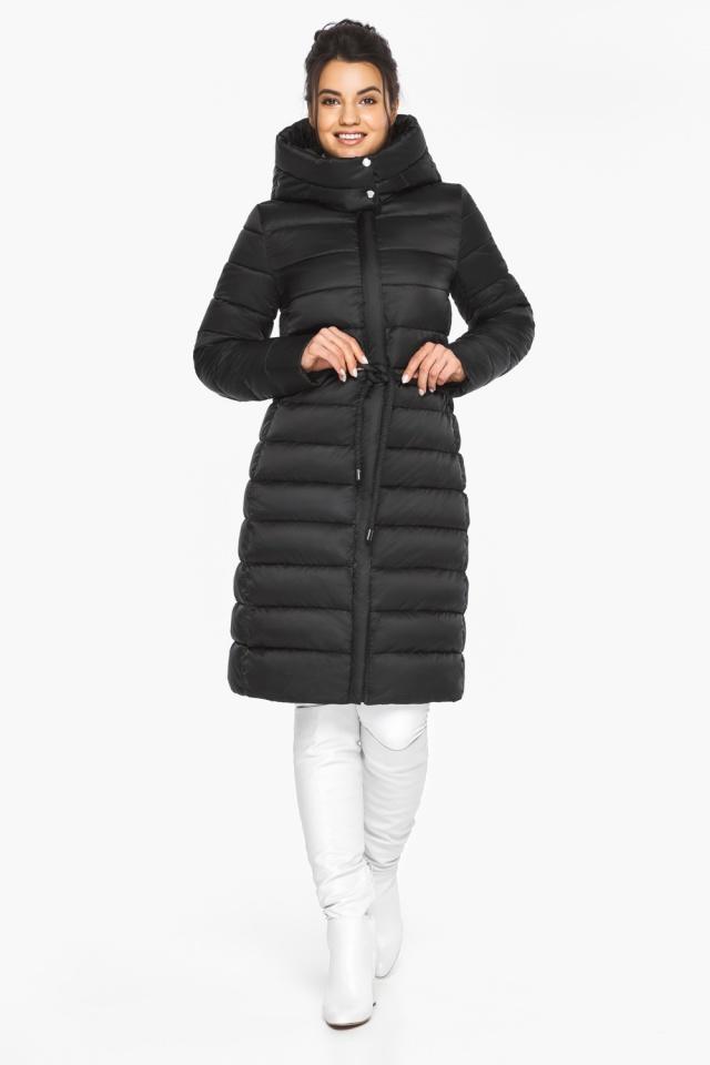Куртка теплая зимняя женская цвет черный модель 44860