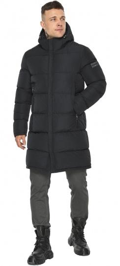 """Мужская куртка с яркой подкладкой зимняя чёрная модель 49438 Braggart """"Dress Code"""" фото 1"""