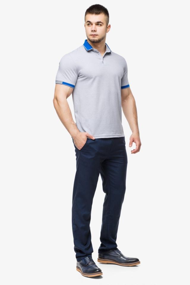 Високоякісна футболка поло чоловіча сірого кольору модель 6618 Braggart фото 4