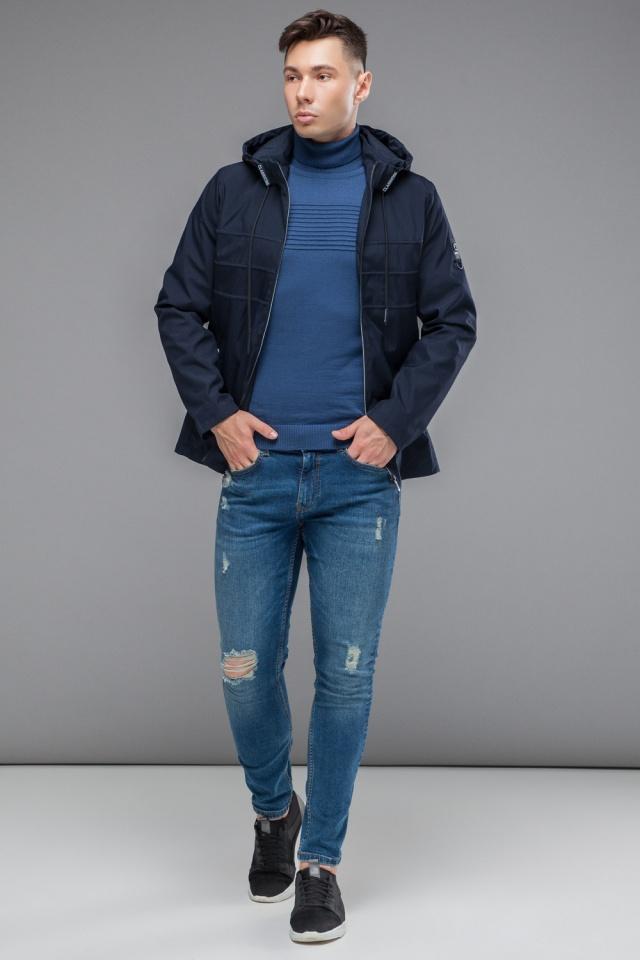 Ветровка темно-синяя мужская молодежная осенне-весенняя модель 25211