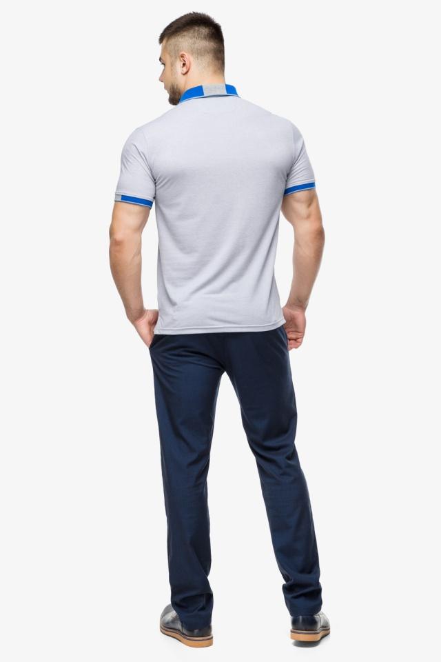 Високоякісна футболка поло чоловіча сірого кольору модель 6618 Braggart фото 5