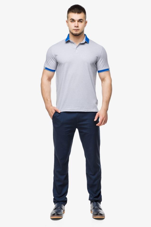 Високоякісна футболка поло чоловіча сірого кольору модель 6618 Braggart фото 2