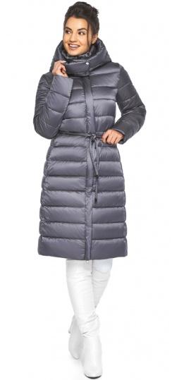 """Жемчужно-серая куртка женская зимняя длинная модель 44860 Braggart """"Angel's Fluff"""" фото 1"""