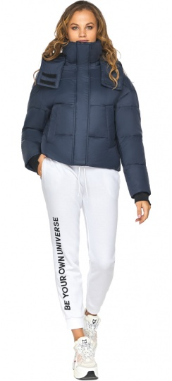 Тёмно-синяя куртка для девочки небольшого роста модель 27450 Youth фото 1