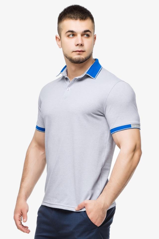Високоякісна футболка поло чоловіча сірого кольору модель 6618 Braggart фото 3