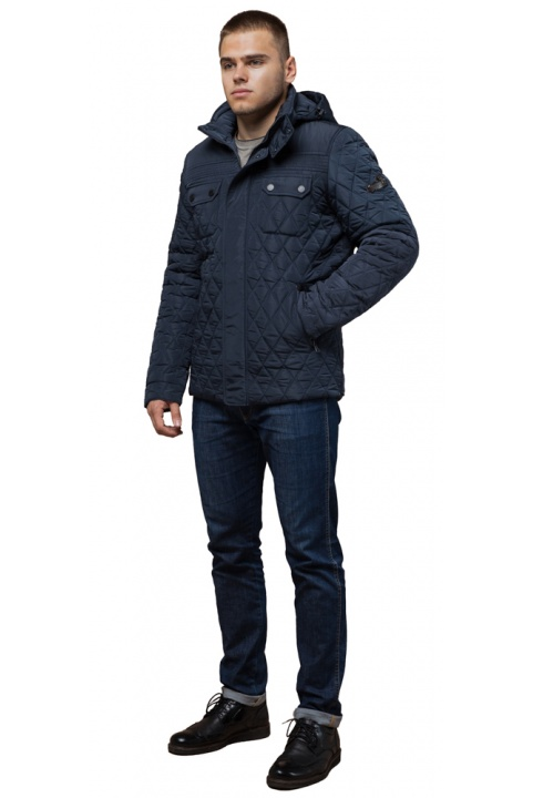 """Трендовая куртка для мальчика зимняя светло-синяя модель 1698 Braggart """"Dress Code"""" фото 1"""