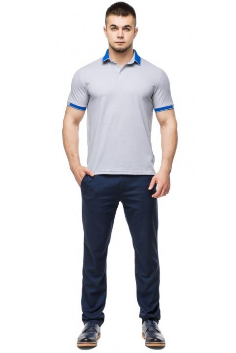 Высококачественная футболка поло мужская серого цвета модель 6618 Braggart фото 1