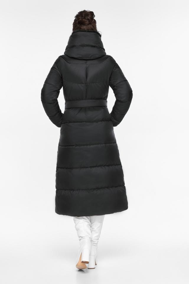 """Куртка с прорезными карманами женская зимняя черная модель 45085 Braggart """"Angel's Fluff"""" фото 5"""