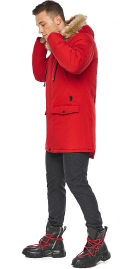 """Куртка – воздуховик красный практичный мужской зимний модель 45062 Braggart """"Angel's Fluff Man"""" фото 1"""