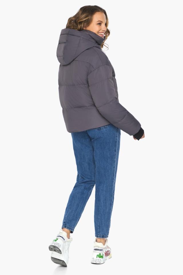 Бренд Youth – подростковая куртка на осень графитовая модель 27450 Youth фото 5