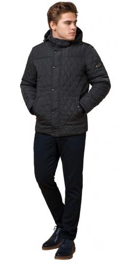 """Зимняя стёганая ромбами куртка мужская графитовая модель 24534 Braggart """"Dress Code"""" фото 1"""