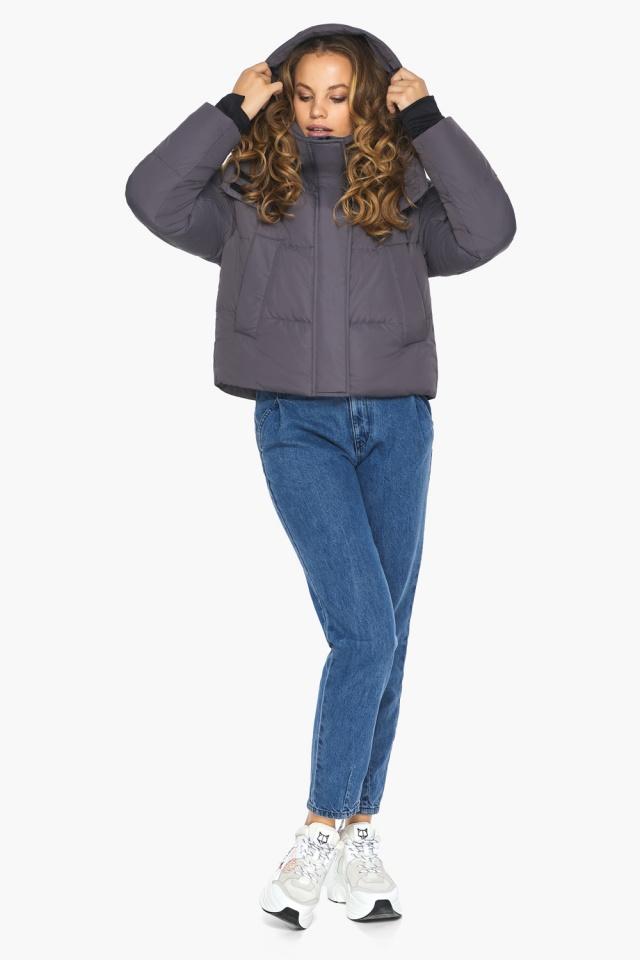 Бренд Youth – подростковая куртка на осень графитовая модель 27450 Youth фото 2
