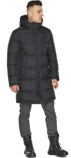 """Трендовая куртка на мужчину зимняя графитовая модель 49773 Braggart """"Dress Code"""" фото 1"""
