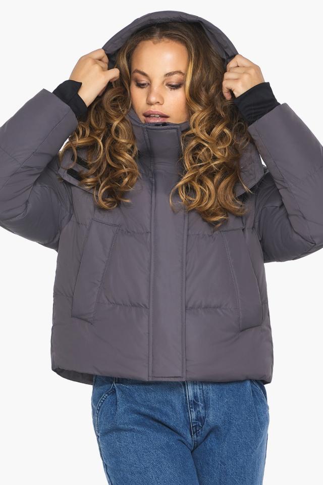 Бренд Youth – подростковая куртка на осень графитовая модель 27450 Youth фото 4