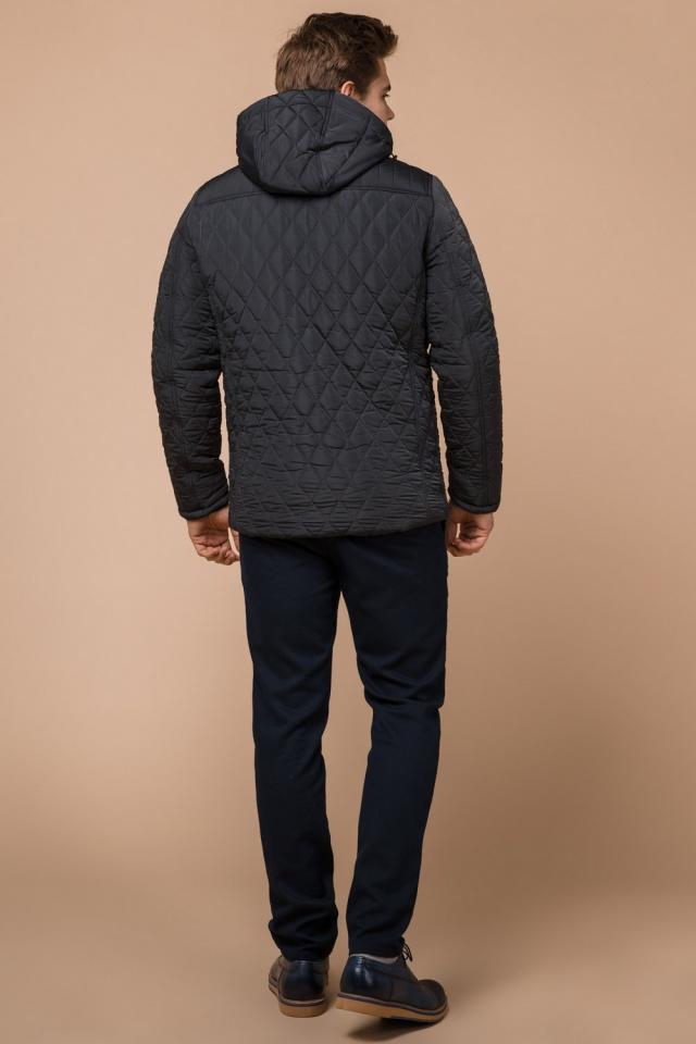 """Зимняя стёганая ромбами куртка мужская графитовая модель 24534 Braggart """"Dress Code"""" фото 5"""