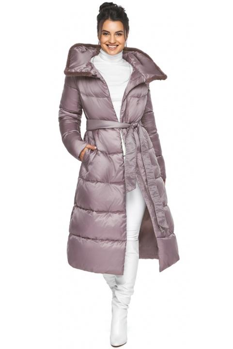 """Жіноча куртка зимова зручного фасону колір пудра модель 45085 Braggart """"Angel's Fluff"""" фото 1"""