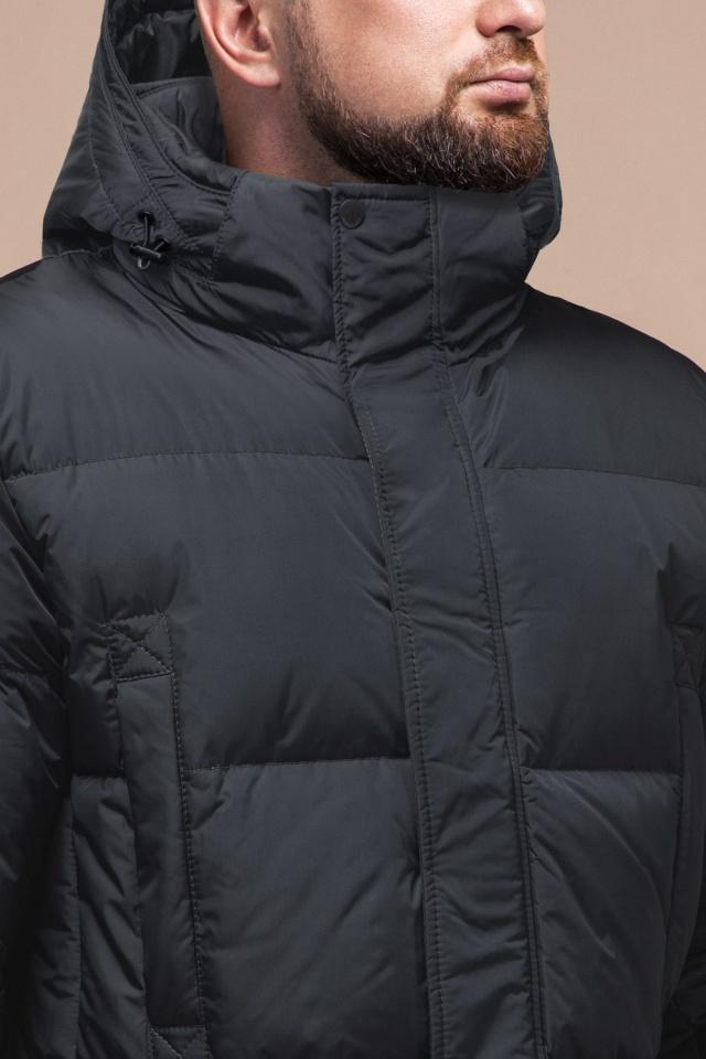"""Стильная куртка мужская зимняя графитовая модель 27055 Braggart """"Dress Code"""" фото 5"""