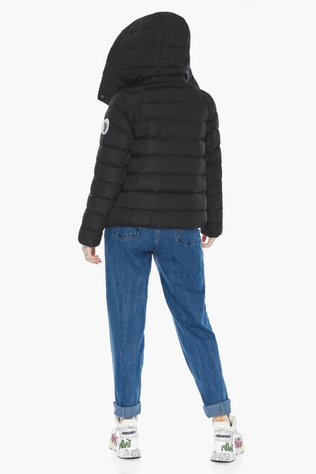 Куртка с прямым укороченным силуэтом для девушки чёрная модель 22150 Youth фото 6