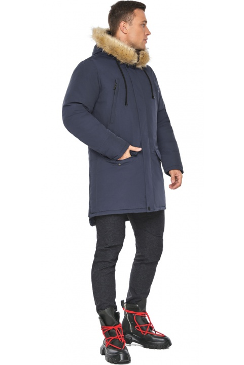 "Куртка – воздуховик с карманами мужской синий зимний модель 45062 Braggart ""Angel's Fluff Man"" фото 1"