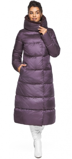 "Куртка зимняя женская теплая цвет баклажан модель 45085 Braggart ""Angel's Fluff"" фото 1"
