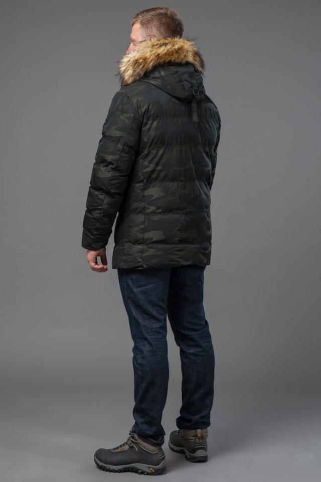 Дизайнерская куртка зимняя темно-зеленая для мужчин модель 76029 Tiger Force фото 5
