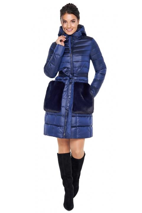 """Оригинальная сапфировая куртка женская осенне-весенняя модель 31845 Braggart """"Angel's Fluff"""" фото 1"""