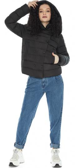 Куртка на девочку осень практичная черная модель 22150 Youth фото 1