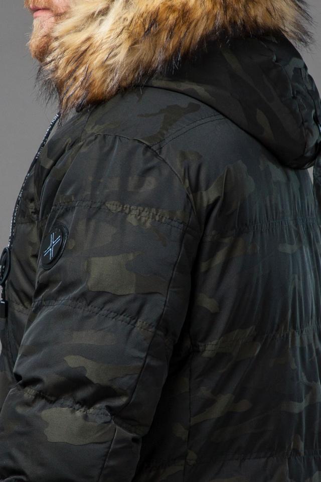 Дизайнерская куртка зимняя темно-зеленая для мужчин модель 76029 Tiger Force фото 8