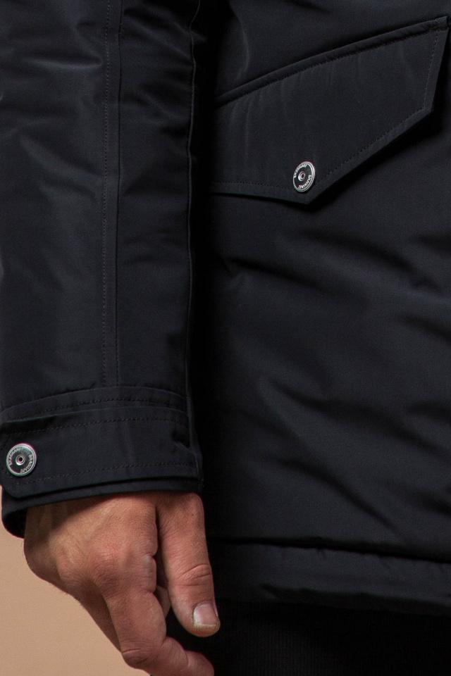 """Черная зимняя мужская парка высококачественная модель 27830 Braggart """"Dress Code"""" фото 7"""