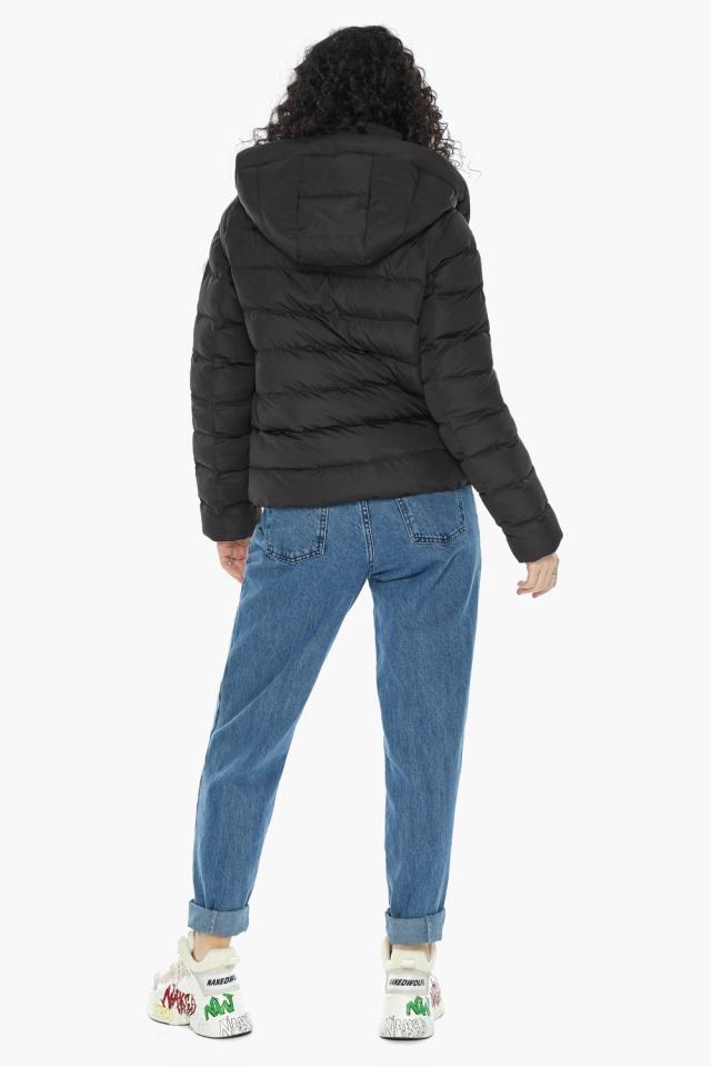 Куртка с прямым укороченным силуэтом для девушки чёрная модель 22150 Youth фото 7