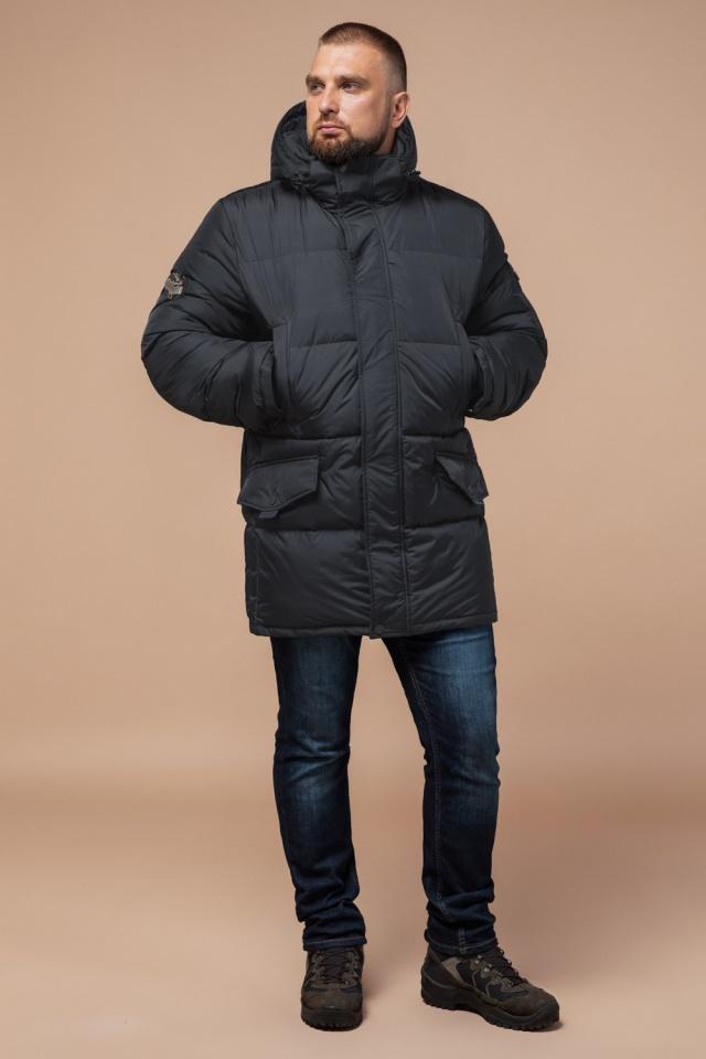 """Стильная куртка мужская зимняя графитовая модель 27055 Braggart """"Dress Code"""" фото 2"""