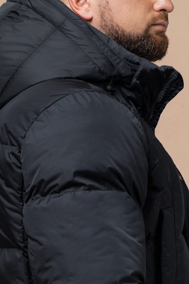 """Стильная куртка мужская зимняя графитовая модель 27055 Braggart """"Dress Code"""" фото 7"""