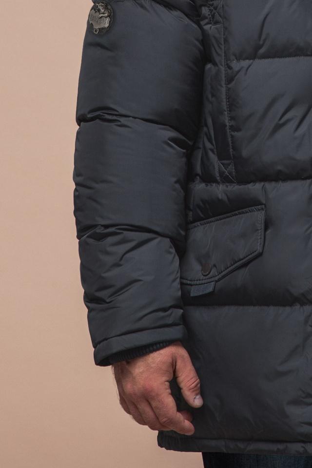 """Стильная куртка мужская зимняя графитовая модель 27055 Braggart """"Dress Code"""" фото 6"""