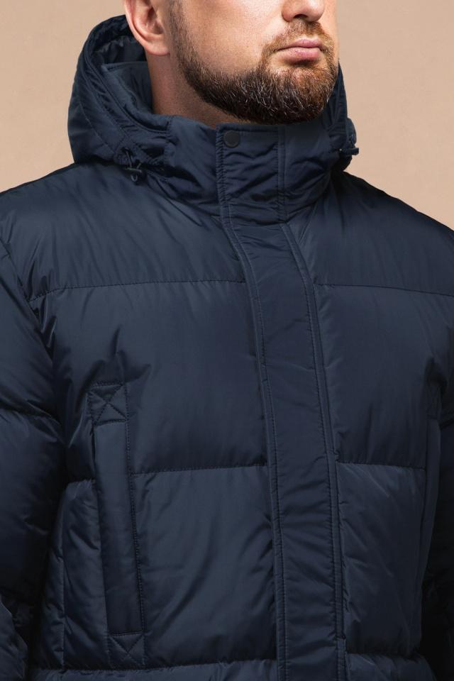 "Комфортная куртка зимняя мужская тёмно-синяя модель 27055 Braggart ""Dress Code"" фото 5"