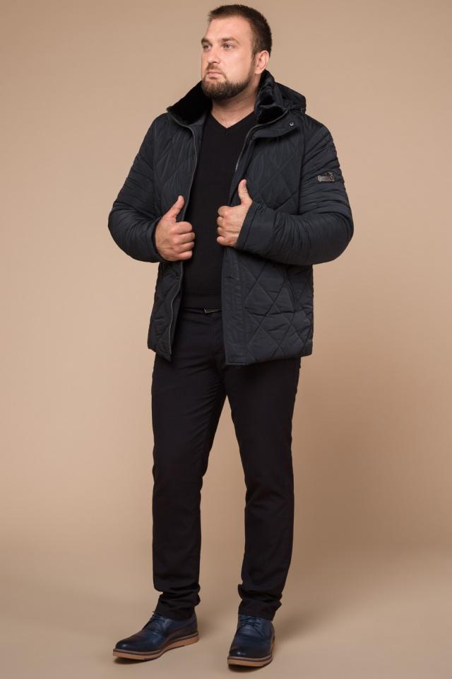 """Графитовая мужская куртка фирменная на зиму модель 19121 Braggart """"Dress Code"""" фото 3"""