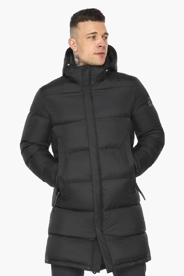 """Стильная мужская чёрная куртка зимняя модель 49773 Braggart """"Dress Code"""" фото 4"""