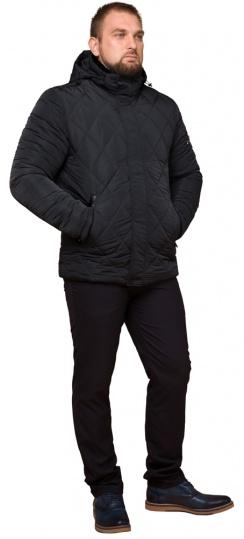 """Графитовая мужская куртка фирменная на зиму модель 19121 Braggart """"Dress Code"""" фото 1"""