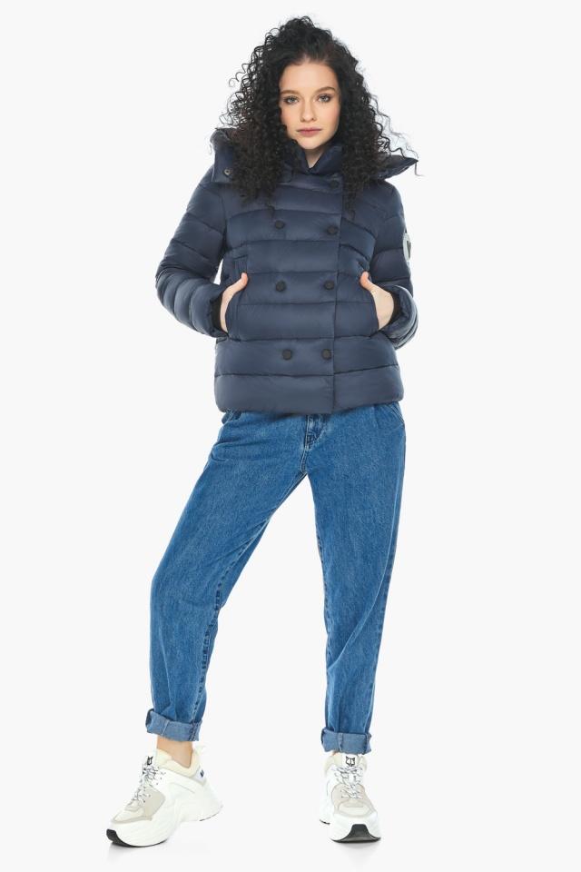 Практичная куртка на девочку осенняя темно-синяя модель 22150 Youth фото 2