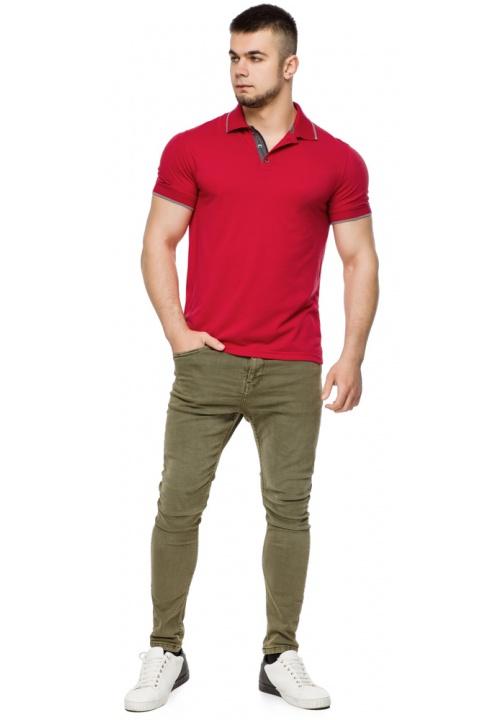 Червона практична футболка поло чоловіча модель 6093 Braggart фото 1