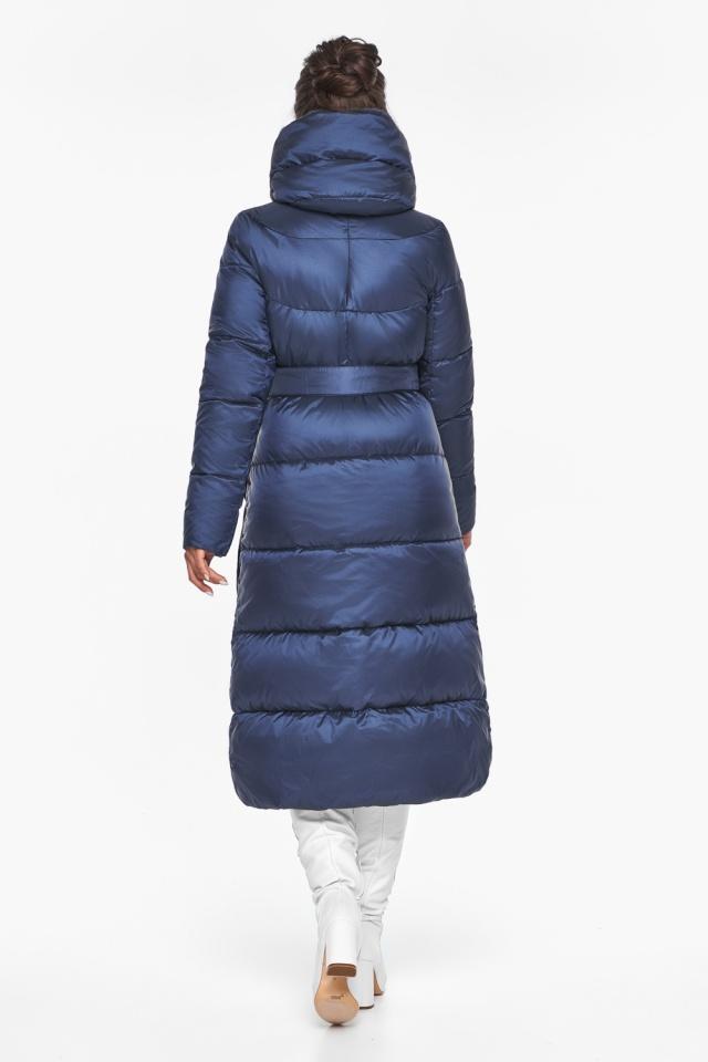 """Женская куртка зимняя с манжетами цвет синий бархат модель 45085 Braggart """"Angel's Fluff"""" фото 6"""