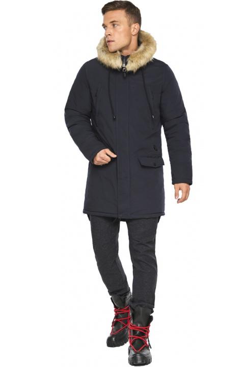 """Куртка – воздуховик чоловічий трендовий зимовий колір темно-синій модель 45062 Braggart """"Angel's Fluff Man"""" фото 1"""