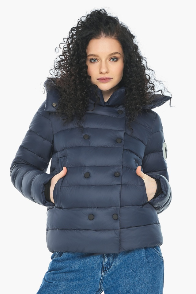 Практичная куртка на девочку осенняя темно-синяя модель 22150 Youth фото 6