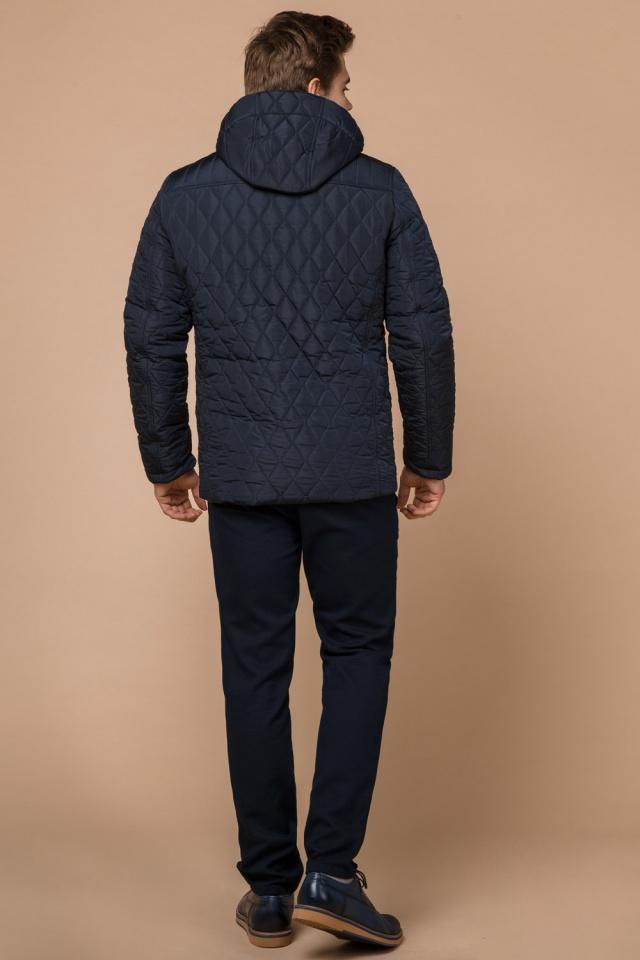 Зимняя синяя мужская куртка с кнопками модель 24534