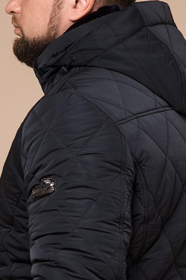 """Графитовая мужская куртка фирменная на зиму модель 19121 Braggart """"Dress Code"""" фото 8"""