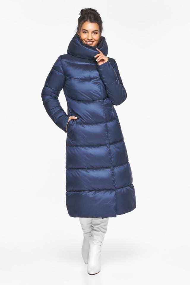 """Женская куртка зимняя с манжетами цвет синий бархат модель 45085 Braggart """"Angel's Fluff"""" фото 2"""