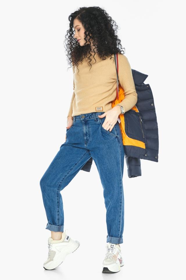 Практичная куртка на девочку осенняя темно-синяя модель 22150 Youth фото 4